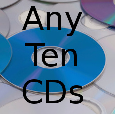 Any 10 CDs Special $75